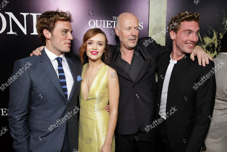 Sam Claflin, Olivia Cooke, Producer Simon Oakes and Rory Fleck-Byrne seen at the Los Angeles Premiere of Lionsgate's 'The Quiet Ones', in Los Angeles