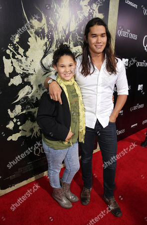 Sage Stewart and Booboo Stewart seen at the Los Angeles Premiere of Lionsgate's 'The Quiet Ones', in Los Angeles