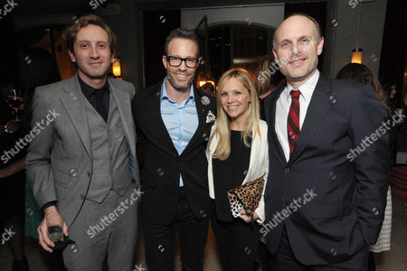 From center left, Andrew Weitz, Stacy Weitz, and THR's Degen Pener attend the Pret-A-Reporter at the Ace Hotel presented by Samsung Galaxy, on in Los Angeles
