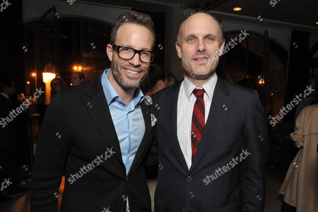 Stock Image of Andrew Weitz, left, and THR's Degen Pener attend the Pret-A-Reporter at the Ace Hotel presented by Samsung Galaxy, on in Los Angeles