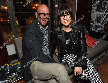 Jonathan Skow, left, and Trina Turk attend the Pret-A-Reporter at the Ace Hotel presented by Samsung Galaxy, on in Los Angeles