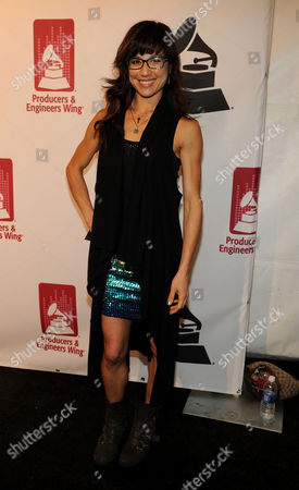 Christine Wu arrives at the Producers and Engineers of The Academy's 7th Annual Grammy Week Event, at The Village Recording Studios, on in West Los Angeles, Calif