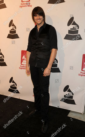 Stock Picture of Derek Olds arrives at the Producers and Engineers of The Academy's 7th Annual Grammy Week Event, at The Village Recording Studios, on in West Los Angeles, Calif
