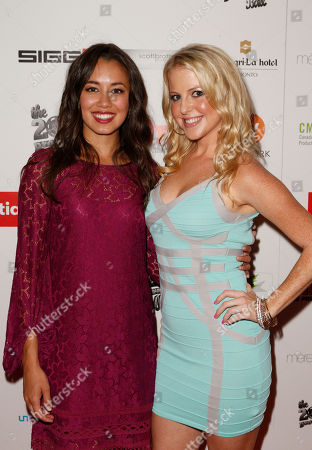 Luisa D'Oliveira, Chelan Simmons attend the Producers Ball 2012 at the Shangri-La Toronto, in Toronto, Canada