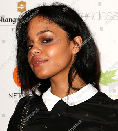 IMAGE DISTRIBUTED FOR THE PRODUCERS BALL - Fefe Dobson attends the Producers Ball 2012 at the Shangri-La Toronto, in Toronto, Canada