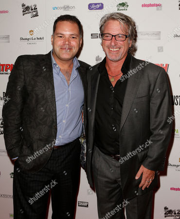 Aaron Douglas and Michael Rymer attend the Producers Ball 2012 at the Shangri-La Toronto, in Toronto, Canada