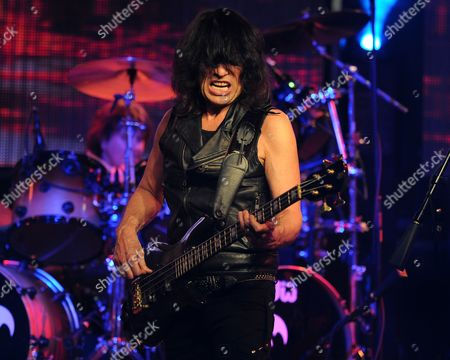 Rudy Sarzo of Queensryche performs at The Culture Room on in Fort Lauderdale, Florida