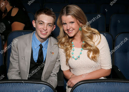 Stock Photo of Dylan Riley Snyder and Madison Curtis attend the Radio Disney Music Awards at the Nokia Theatre on in Los Angeles