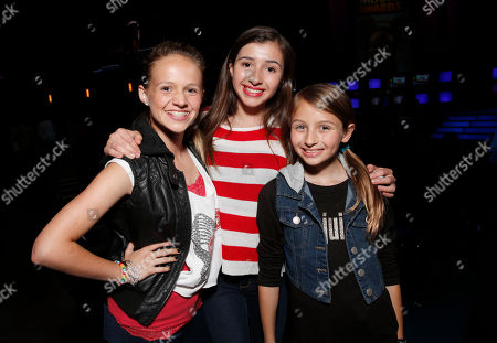 Lauren Suthers, Victoria Strauss and Sofia Strauss attend the Radio Disney Music Awards at the Nokia Theatre on in Los Angeles