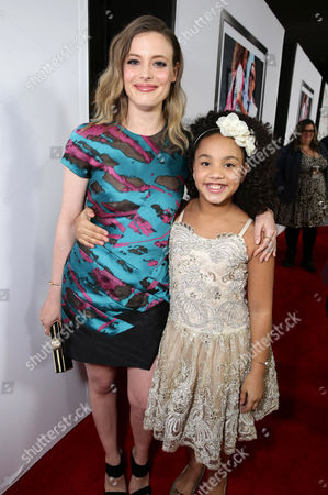"Gillian Jacobs and Jillian Estell seen at Relativity Studios Los Angeles Premiere of ""Black or White"" held at Regal Cinemas, in Los Angeles"