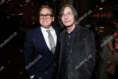 "Director/Writer Mike Binder and Jackson Browne seen at Relativity Studios Los Angeles Premiere of ""Black or White"" held at Regal Cinemas, in Los Angeles"