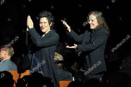 """Composers Wendy Melvoin (L) and Lisa Coleman attend """"SCORE! A Concert Celebrating Music Composed for Television"""" presented by the Television Academy at UCLA's Royce Hall, in Los Angeles"""