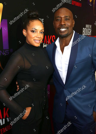 "Pam Byse, left, and Morris Chestnut attend the Screen Gems premiere of ""When the Bough Breaks"" at Regal Cinemas L.A. Live, in Los Angeles"