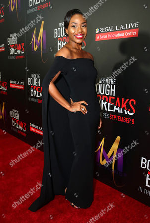 "Stock Picture of Rashia Whitlock attends the Screen Gems premiere of ""When the Bough Breaks"" at Regal Cinemas L.A. Live, in Los Angeles"
