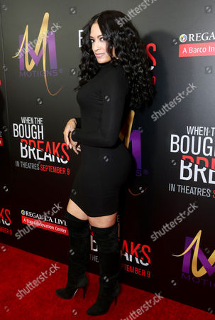 """Melissa De Sousa attends the Screen Gems premiere of """"When the Bough Breaks"""" at Regal Cinemas L.A. Live, in Los Angeles"""