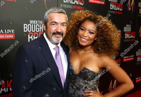 """Jon Cassar, left, and Jaz Sinclair attend the Screen Gems premiere of """"When the Bough Breaks"""" at Regal Cinemas L.A. Live, in Los Angeles"""