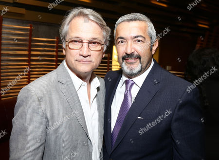 """Screen Gems President Clint Culpepper, left, and Jon Cassar attend the Screen Gems premiere of """"When the Bough Breaks"""" at Regal Cinemas L.A. Live, in Los Angeles"""