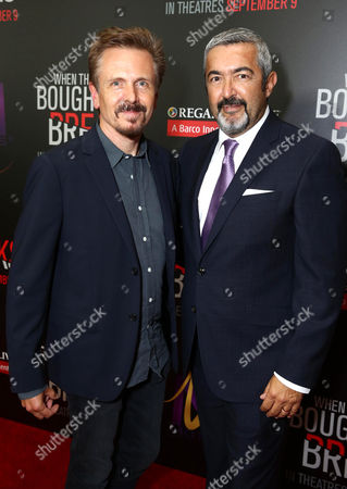 """Stock Picture of John Frizzell, left, and Jon Cassar attend the Screen Gems premiere of """"When the Bough Breaks"""" at Regal Cinemas L.A. Live, in Los Angeles"""
