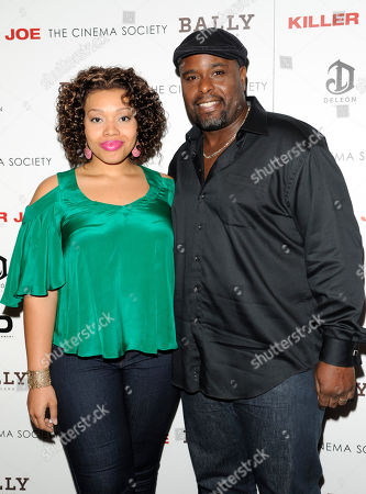"""Actors Carmen Ruby Floyd and J. Bernard Calloway attend a special screening of """"Killer Joe"""" hosted by The Cinema Society with Bally and DeLeon at the Tribeca Grand Hotel on in New York"""