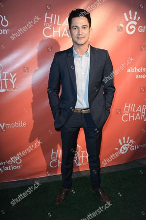 """Justin Willman arrives at Seth Rogen's """"House Party"""" with Hilarity for Charity at the Avalon on in Los Angeles"""
