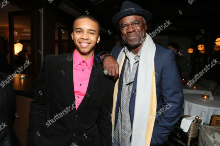 "Donis Leonard Jr. and Glynn Turman seen at the premiere event for Showtime's Original Comedy Series ""Shameless, House of Lies and Episodes"" at Cecconi's, in West Hollywood"