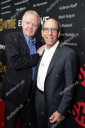 Jon Voight and Matthew C. Blank, Chairman or Showtime, seen at Showtime's Emmy Eve at the Sunset Tower, in Los Angeles
