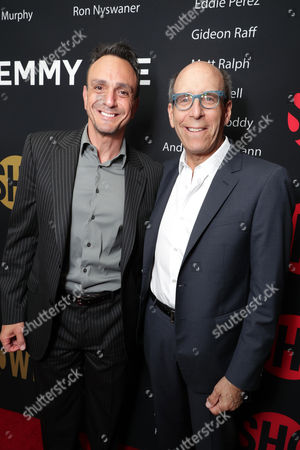 Hank Azaria and Matthew C. Blank, Chairman or Showtime, seen at Showtime's Emmy Eve at the Sunset Tower, in Los Angeles