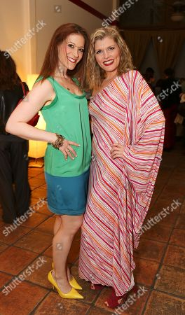 """Stock Photo of From left, cast members Darrin Revitz and Erin Matthews pose during the world premier of """"Sketches From The National Lampoon"""" at the Hayworth Theatre on in Los Angeles, Calif"""