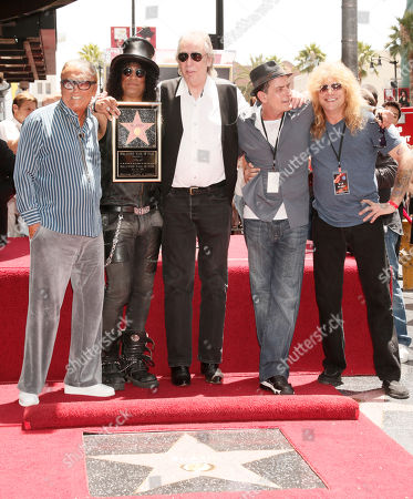 Editorial photo of Slash Walk of Fame, Los Angeles, USA
