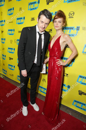 Director/Writer/Producer/Actor Ilya Naishuller and Composer/Actor Darya Charusha seen at STX Entertainment 'Hardcore Henry' screening at 2016 SXSW Film Festival, in Austin, TX