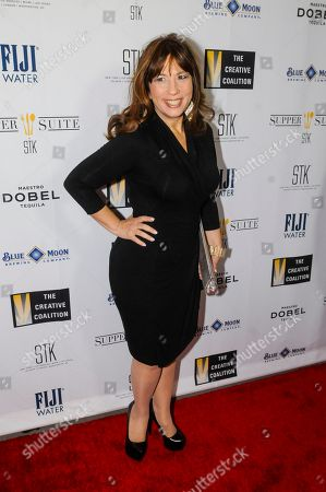 Robin Bronk, COE, The Creative Coalition, arrives at the 'Supper Suite by STK honors The Creative Coalitions Arts in America Benefit Gala' at STK DC on in Washington, D.C. The event is supported by STK DC, Fiji Water, Maestro Dobel Tequila and Blue Moon Brewing. The annual benefit aims to promote the continued support of arts in America by encouraging the entertainment and media industry to dialogue with Capitol Hill