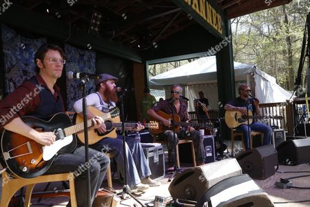 Luther Dickinson, Marc Broussard, JJ Grey, Anders Osborne (L-R) of Southern Soul Assembly performs at the Suwannee Springfest at the Spirit of Suwannee Music Park, on in Live Oak, Florida