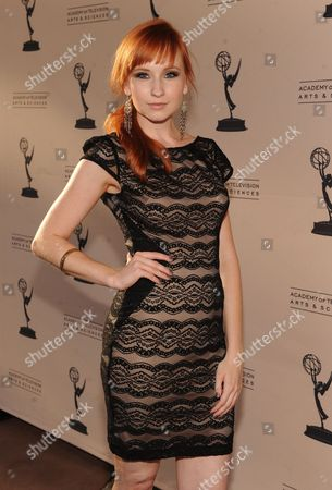 Mary Kate Wiles attends the Academy of Television Arts & Sciences Interactive Media Peer Groups Celebration for the Interactive Media Nominees,, at the Leonard H. Goldenson Theatre in North Hollywood, Calif