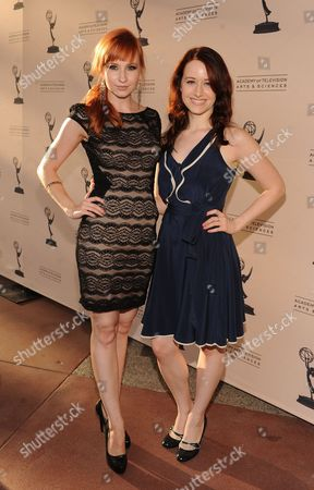 From left, Mary Kate Wiles and Ashley Clements attend the Academy of Television Arts & Sciences Interactive Media Peer Groups Celebration for the Interactive Media Nominees,, at the Leonard H. Goldenson Theatre in North Hollywood, Calif