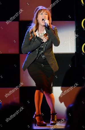 "Stock Photo of Vicki Lewis performs at the 22nd annual ""A Night At Sardi's"" to benefit the Alzheimer's Association at the Beverly Hilton Hotel, in Beverly Hills, Calif"