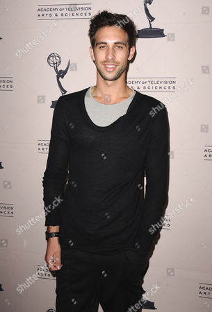 Blake Berris arrives at the 40th Annual Daytime Emmy Awards nominee reception at the Montage Beverly Hills on in Beverly Hills, Calif