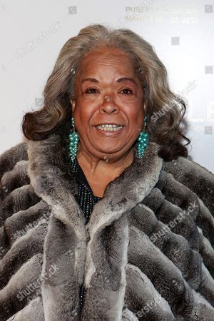 Della Reese pose on the red carpet at the celebration of theApril 2Blu-ray, DVD, and Digital HD releaseof THE BIBLEfrom Twentieth Century Fox Home Entertainment during The Bible Experience opening night gala, a rare exhibit of biblical artifacts, in New York City on Tuesday, March 19 in New York
