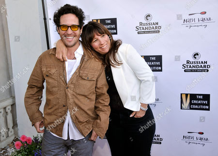 Actor Rob Morrow, left, poses with The Creative Coalition CEO Robin Bronk at The Creative Coalition's Annual Summer Soiree at Mari Vanna, in Los Angeles