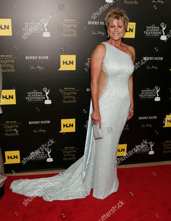 Judi Evans arrives at the 39th Annual Daytime Emmy Awards on HLN at the Beverly Hilton Hotel on in Beverly Hills, Calif