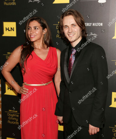 Stock Photo of Lisa Vultaggio, left, and Jonathan Jackson arrive at the 39th Annual Daytime Emmy Awards on HLN at the Beverly Hilton Hotel on in Beverly Hills, Calif