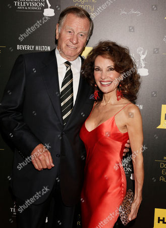 Helmut Huber, left, and Susan Lucci arrive at the 39th Annual Daytime Emmy Awards on HLN at the Beverly Hilton Hotel on in Beverly Hills, Calif