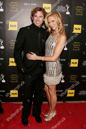 Stock Picture of Rutledge Taylor, left, and Deborah Gibson arrive at the 39th Annual Daytime Emmy Awards on HLN at the Beverly Hilton Hotel on in Beverly Hills, Calif