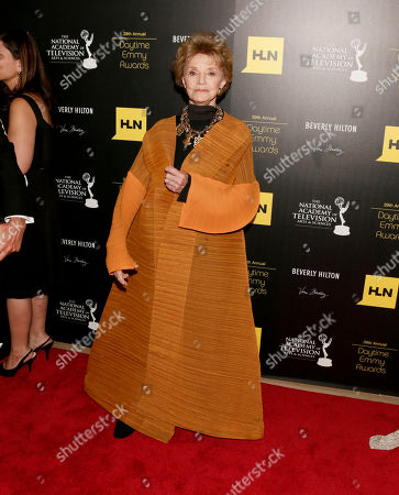 Peggy McCay arrives at the 39th Annual Daytime Emmy Awards on HLN at the Beverly Hilton Hotel on in Beverly Hills, Calif