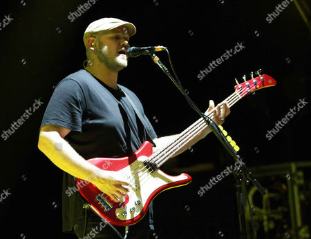 Mike Retondo with Plain White T's performs during The Great Unknown 2015 tour at Chastain Park Amphitheater, in Atlanta