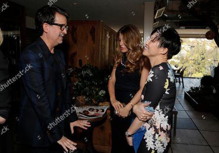 Joseph Cassell, left, Sara Riff and Sandra Choi attend The Hollywood Reporter & Jimmy Choo Celebration of the Most Powerful Stylists in Hollywood,, in West Hollywood, Calif