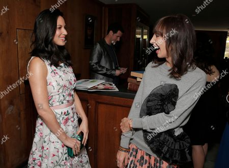 Olivia Munn, left Merle Ginsberg attend The Hollywood Reporter & Jimmy Choo Celebration of the Most Powerful Stylists in Hollywood,, in West Hollywood, Calif