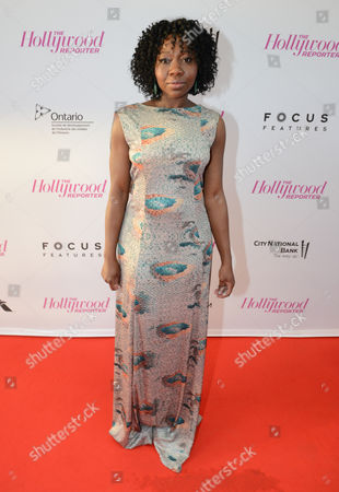 Muna Otaru arrives at The Hollywood Reporter celebration for the Breakthrough in Film Award honorees at TIFF at the Thompson Hotel, in Toronto