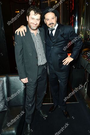 Director Spencer Susser and Chief Creative Officer at Vice Eddy Moretti seen at The Premiere of Intel & W Hotels' Four Stories, W Hotel, London