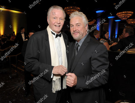 Jon Voight, left, and William Petersen attend the presentation of the 27th Annual American Cinematheque Award to Jerry Bruckheimer, in Beverly Hills, Calif