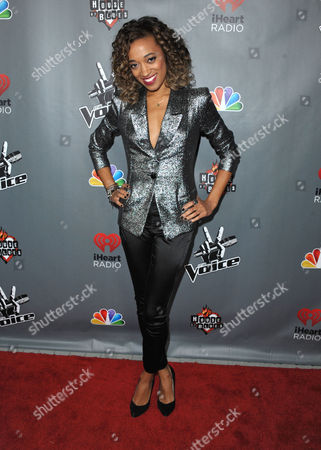 """Amanda Brown attends a red carpet event for """"The Voice"""" Season 3 in Los Angeles on"""